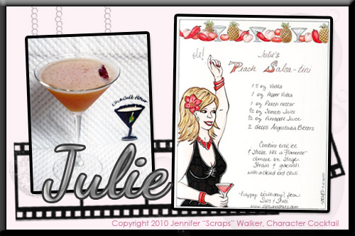 Julie's Peach Salsa-tini Drink and Art